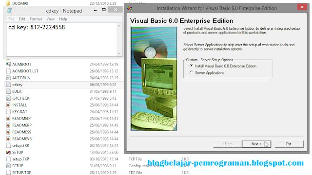 Panduan dan Cara Install Visual Basic 6.0 di Windows 8/8.1