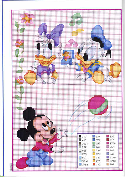 punto croce disney babies 44