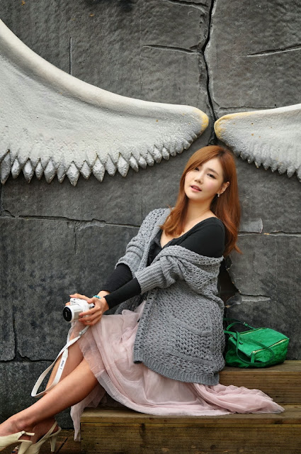 3 Han Ga Eun Outdoors - very cute asian girl-girlcute4u.blogspot.com