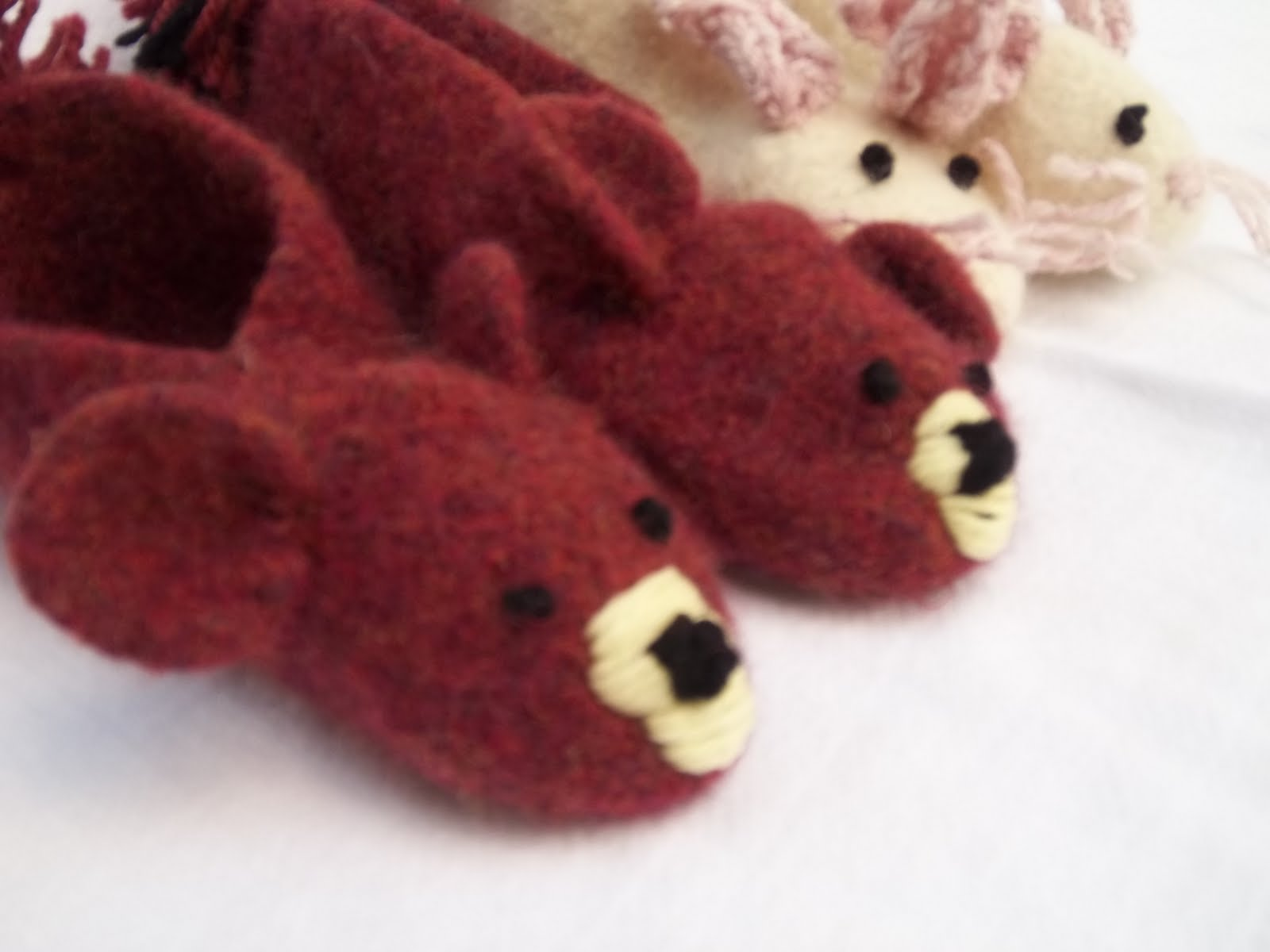 Pilgrim Purse ~ and Poetry: Animal Slippers