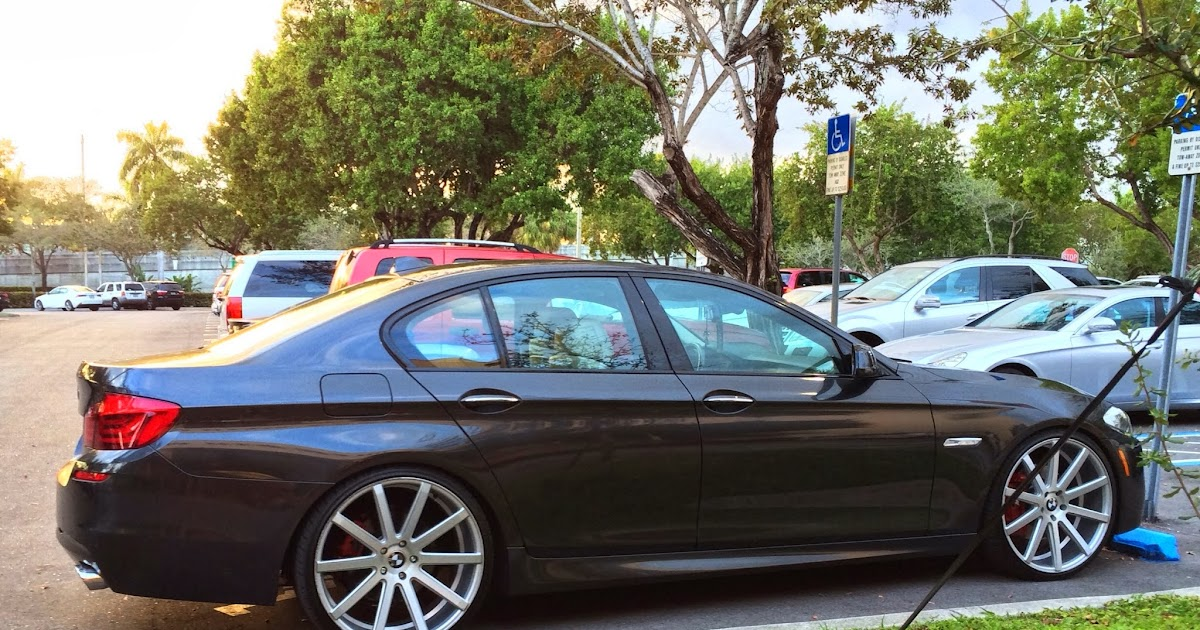 Bmw Exotic Cars >> Exotic Cars on the Streets of Miami: BMW 5 Series | Staggered Rims