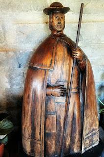 Imagem em madeira de São Tiago, Capela de São Thiago - Santiago (RS)