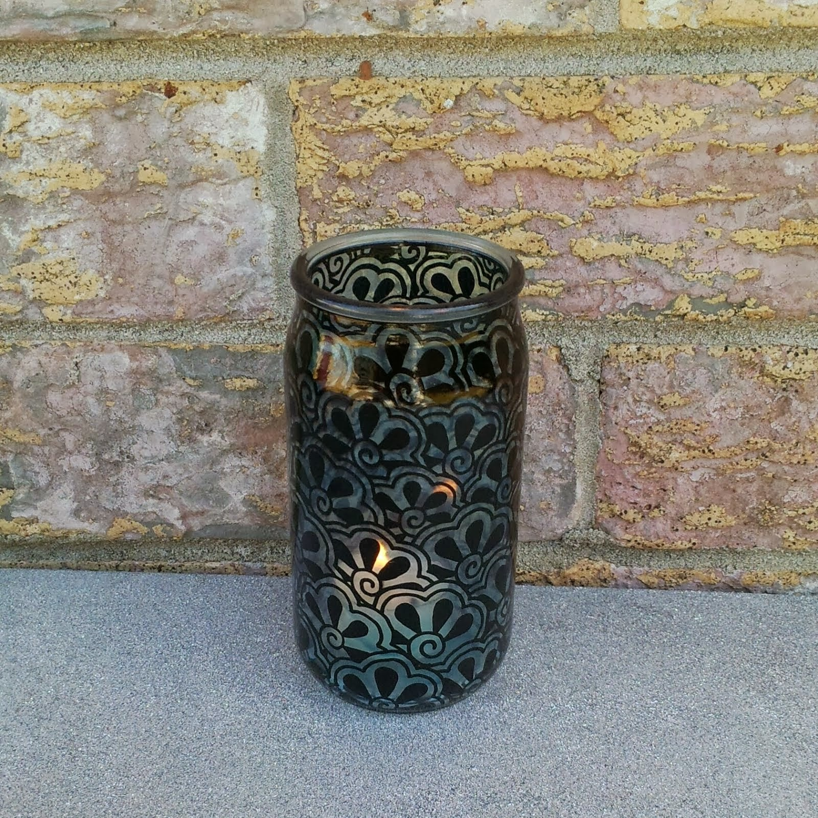 Henna Painted Candle Holder