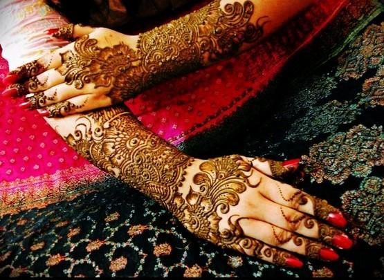 Pakistani bridal mehndi designs for hands - photo#4