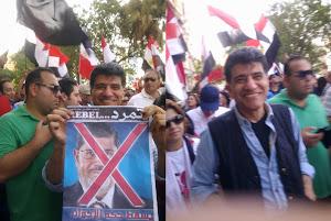 الدكتور محمد النشائى فى مظاهرات الحرية يوم 30 يونيو
