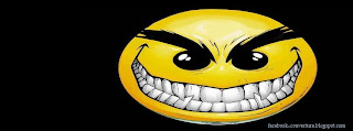 couverture Facebook Smiley méchant