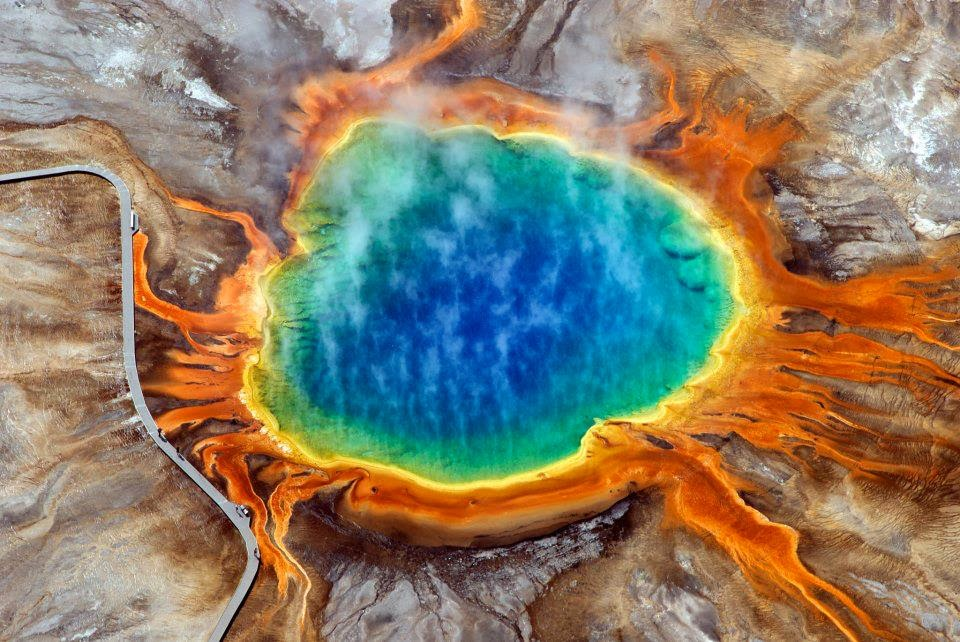 Alluring Planet Grand Prismatic Spring Yellowstone