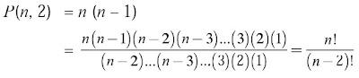 permutasi 2 unsur yang diambil dari n unsur