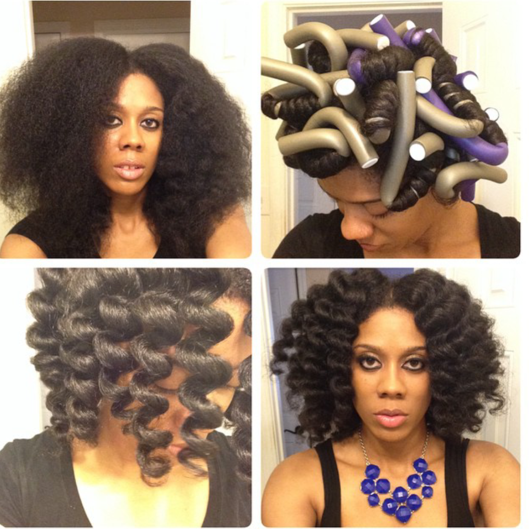 Hairstyles Using Flexi Rods : photo via HappilyEverNaturals post on flexis!