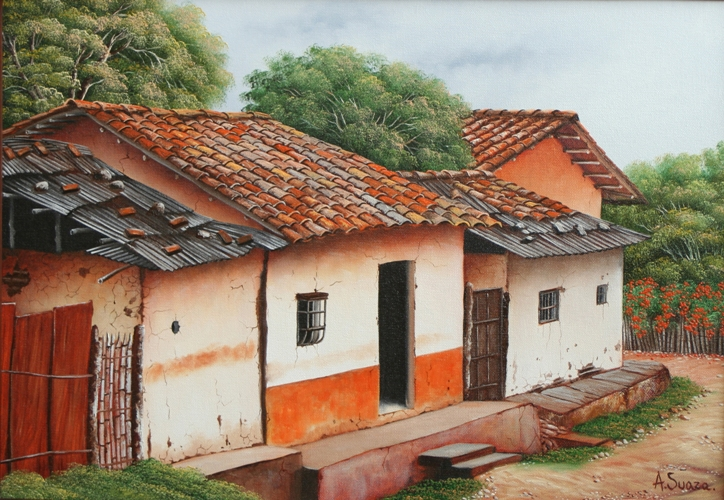 Im genes arte pinturas oleos casas viejas - Casas viejas al oleo ...