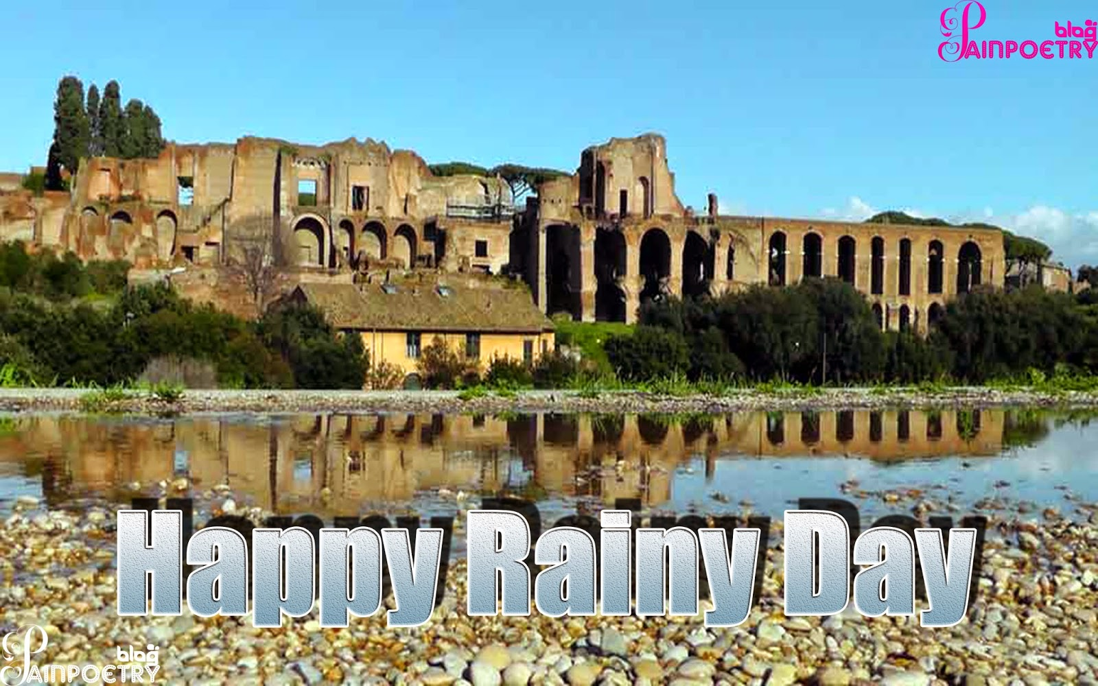 Happy Rainy Day Wishes Wallpaper With Wishes Messages Sms Messages