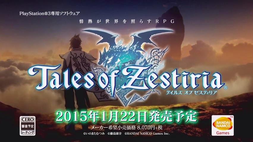 Nuevo trailer de Tales of Zestiria TGS2014