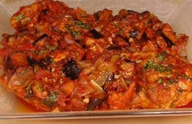 Chicken and eggplant recipe how to make chicken and eggplant the lebanese recipes kitchen the home of delicious lebanese recipes and middle eastern food recipes invites you to try chicken and eggplant recipe forumfinder Gallery