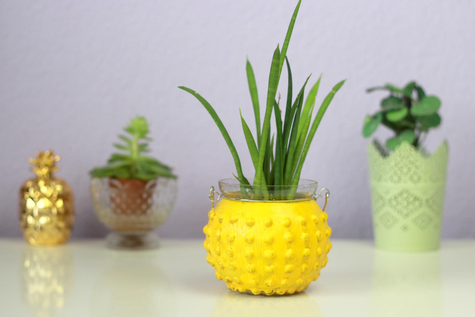 diy ananas vase kirschbl tenblog. Black Bedroom Furniture Sets. Home Design Ideas