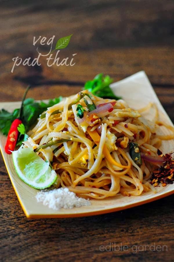 Vegetable And Tofu Pad Thai Recipe — Dishmaps
