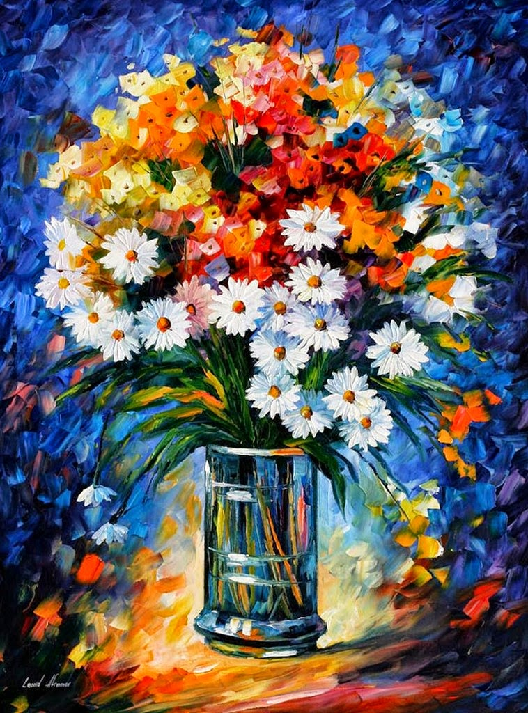 pinturas-modernas-de-flores-con-espatula