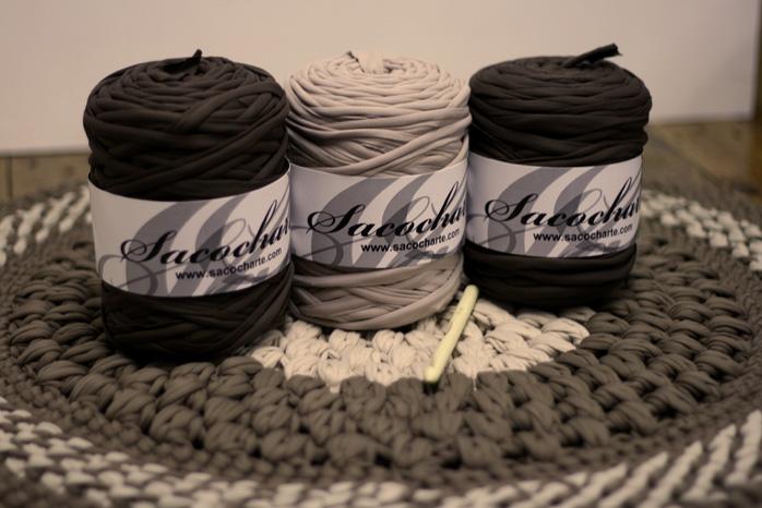 Punto puff stitch en alfombras de ganchillo sacocharte - Alfombras ganchillo trapillo ...