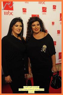 نجمة الرقص الشرقي والممثلة فيفي عبده مع ابنتها هنادي