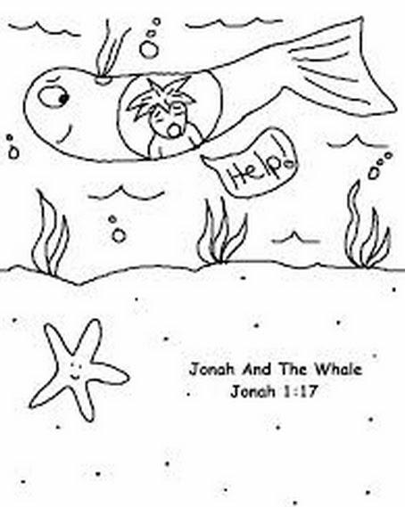 Hermosa Jonah Y Las Hojas Para Colorear De Ballenas Festooning ...