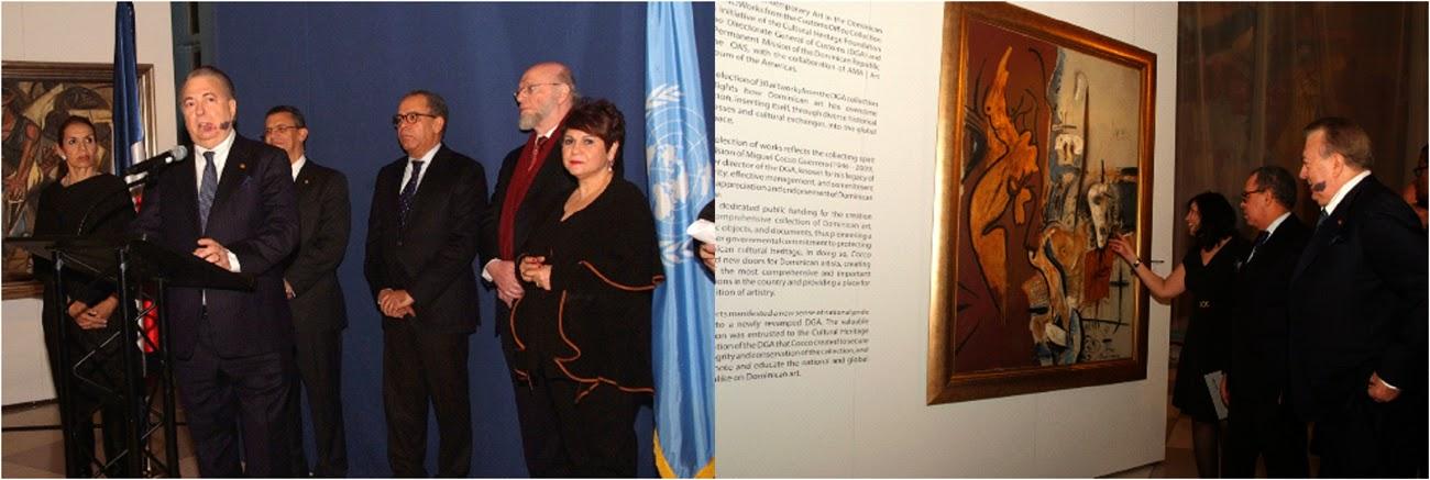 Cónsul Selman y embajadores encabezan apertura de exposición de pintura en la ONU colección de la DGA