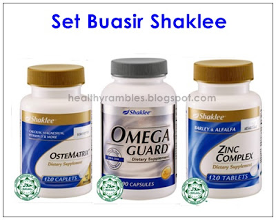 Set Buasir Shaklee - Omega Guard, Zinc Complex, OsteMatrix