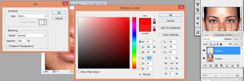pic cara belajar how to create tutorial photoshop pemula membuat lips color digital make up 3