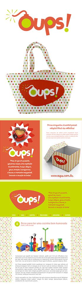Criação de Identidade Visual para a marca OUPS!