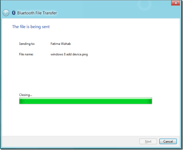 Trasnfer file via bluetooth