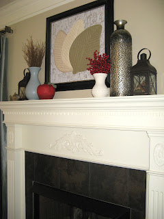 Framed Art over Mantel