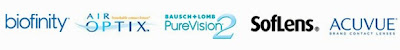 Marcas de lentillas: Biofinity, Air Optix, Pure Vision 2, Soflens y Acuvue