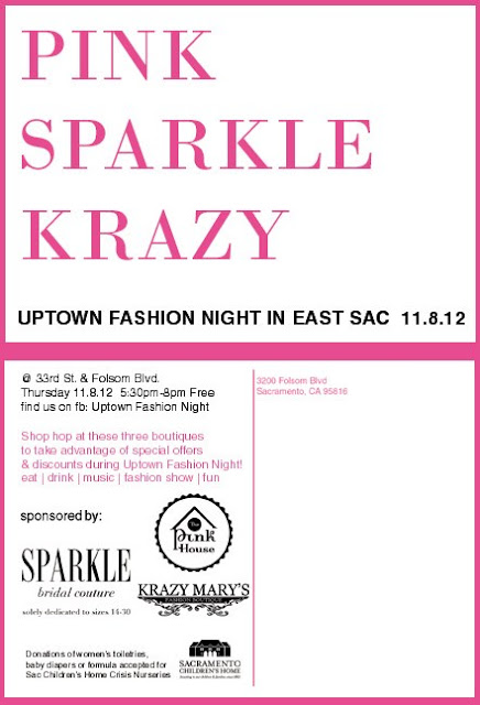 Uptown Fashion Night in East Sac – November 8th