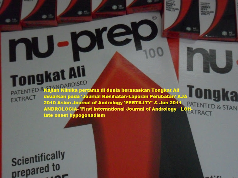 Scientific evidence,WHO criteria AJA2010 'Fertility' & ANDROLOGIA Jun 2011 'LOH' Nu-Prep 100