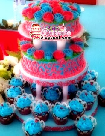 Wedding Cake and Cup Cake