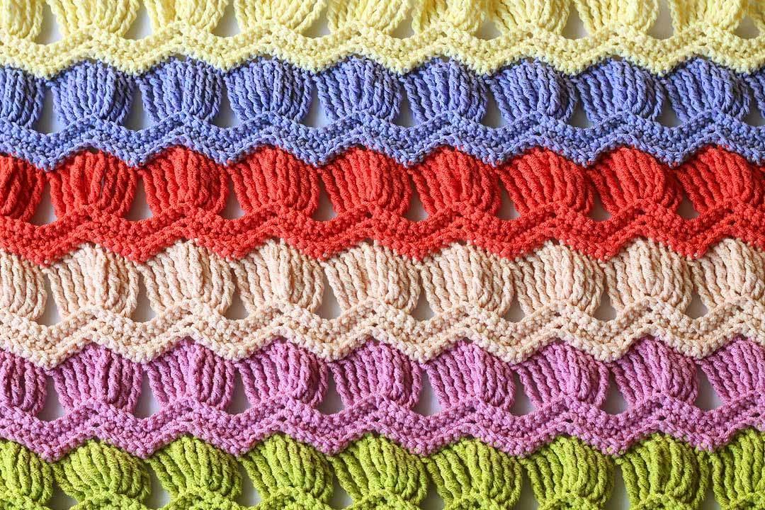 Zig zag al crochet combinado
