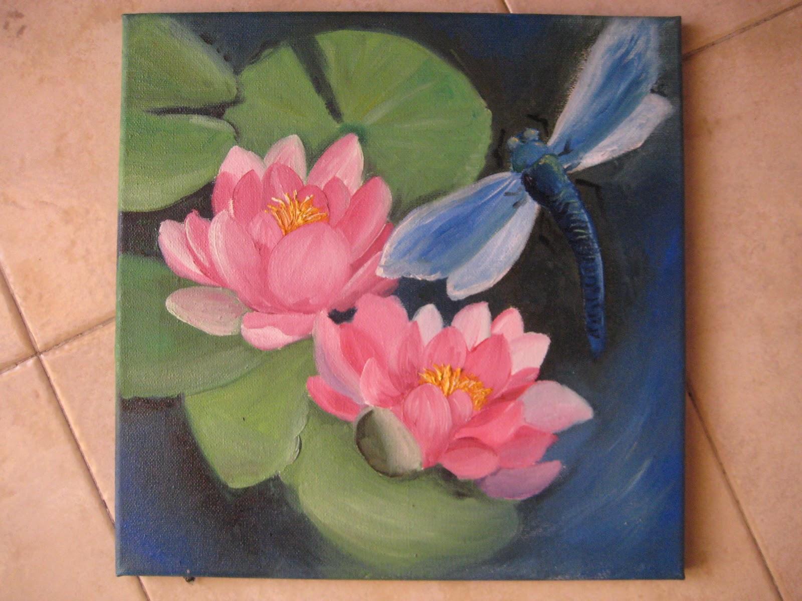 la libellula creativa dipinti ad olio