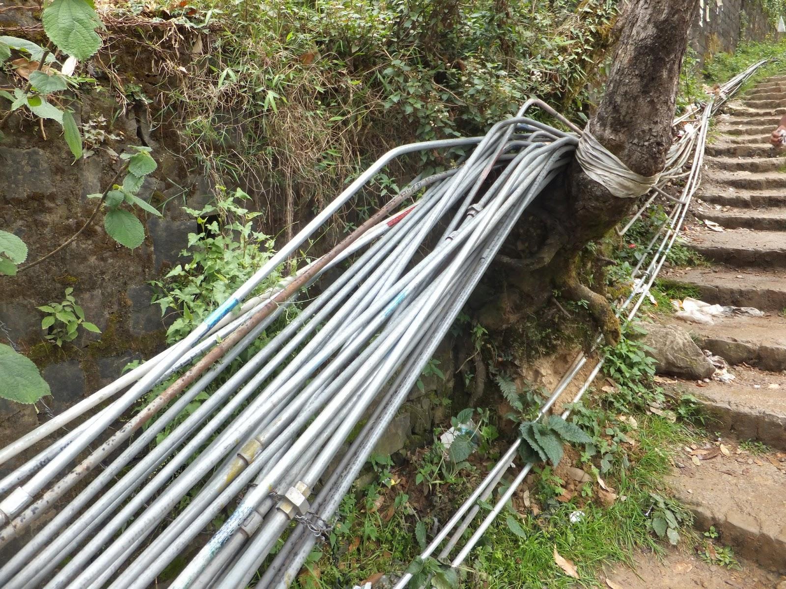 трубы водопровода в Индии