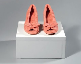 gum sculpture women pumps