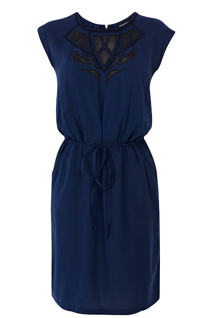 appliqué dress with pockets