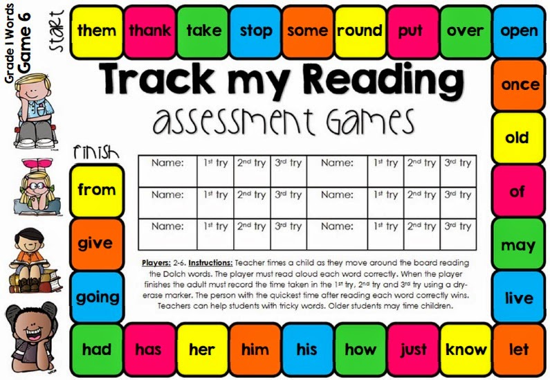 Tracking Reading Fluency with Games and a FREEBIE