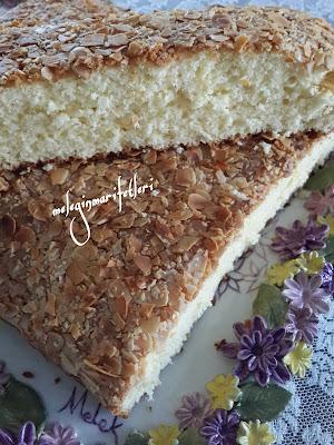 mandalinalı bademli sünger kek