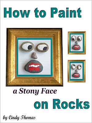 how to, rock painting, idea, Stony Face, painted rocks, Amazon, Cindy Thomas