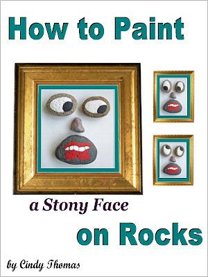 how to, rock painting, idea, Stony Face, painted rocks, Amazon, Cindy Thomas