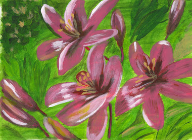 Pink Day Lillies