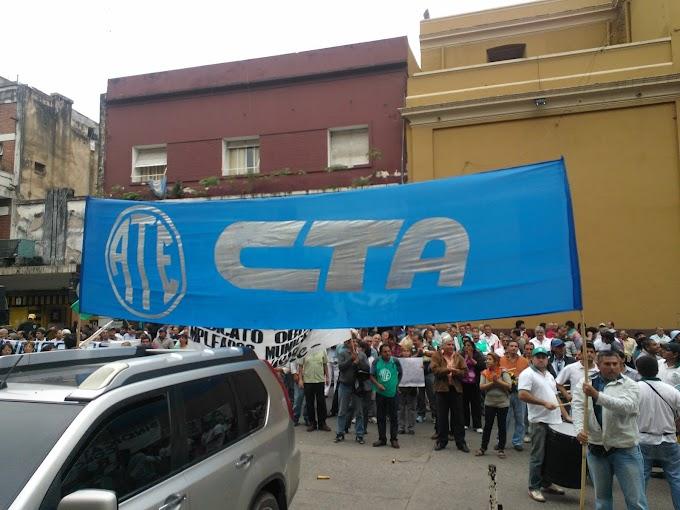 ATE- CTA salio a la calle a reclamar por mejoras salariales
