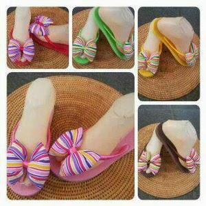 Sandal Jepit Pita Bali Motif Rainbow