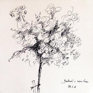 Barbara's Rose Tree by Liza Hirst