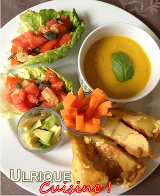 ulrique cuisine ap ro gourmand soupe froide aux poivrons et tapas. Black Bedroom Furniture Sets. Home Design Ideas