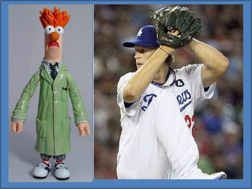 The Dodgers Clayton Kershaw And Beaker
