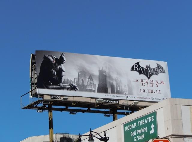 Batman Arkham City game billboard