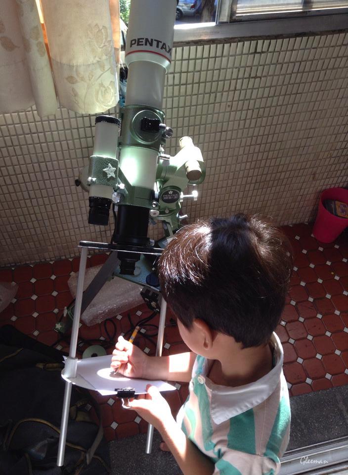 太陽黑子投影觀測 Pentax 75SDHF 搭配HM 12.5mm目鏡